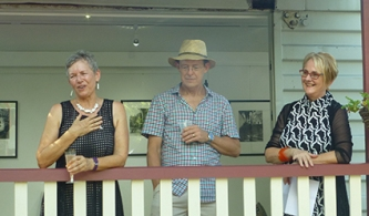 Ellen, Mick and Dr Sue Davis, opening speeches