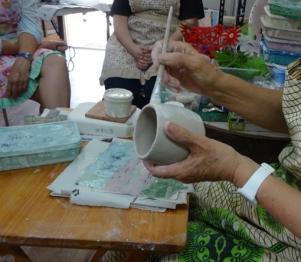 Casting slip as glue