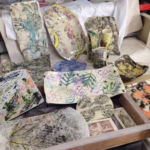 Printed ceramics from Print on Clay Workshops